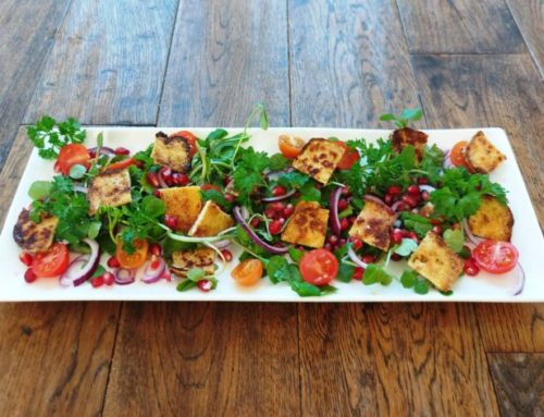 TOFU AND POMEGRANATE SALAD